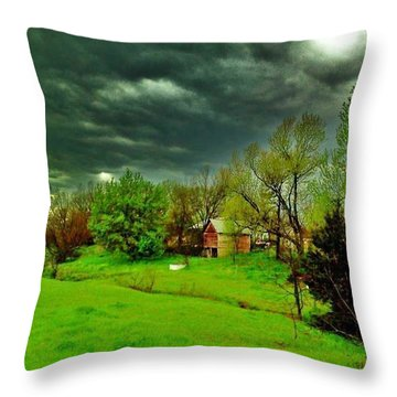 Storm Anticipation Throw Pillow by PainterArtist FIN