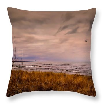 Storm Approaching At Dusk Throw Pillow