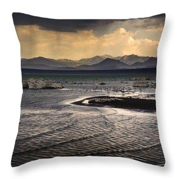 Storm At Mono Lake Throw Pillow