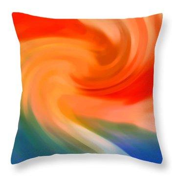 Storm At Sea 1 Throw Pillow
