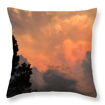 Storm At Sundown Throw Pillow