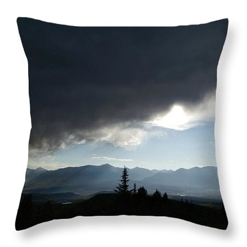 Storm Blows Over Throw Pillow by Jeremy Rhoades