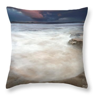 Storm Bowl Throw Pillow by Mike  Dawson