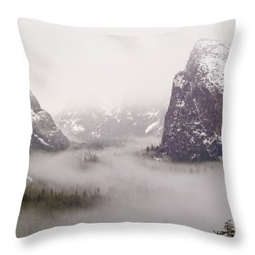 Storm Brewing Throw Pillow by Bill Gallagher