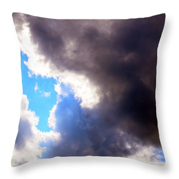 Throw Pillow featuring the photograph Storm Brewing by Deborah Fay