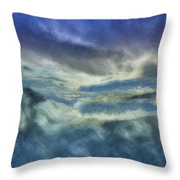 Storm Brewing Throw Pillow by Jack Zulli