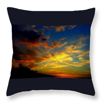 Throw Pillow featuring the photograph Storm Brings Beauty by Chris Tarpening
