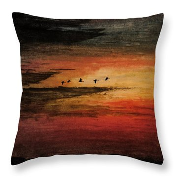 Storm Chasing Throw Pillow by R Kyllo