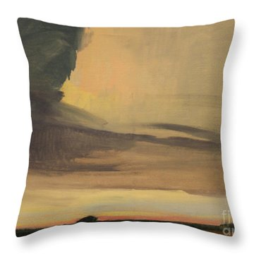 Storm Clouds And Sunset  1940 Throw Pillow