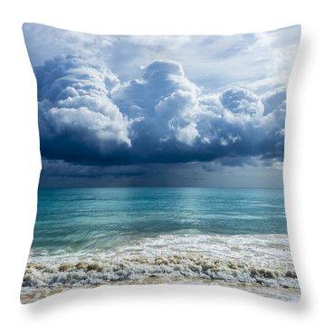 Storm Clouds At Waimanalo Throw Pillow