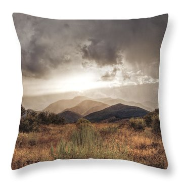 Storm Clouds Throw Pillow by Dianne Phelps