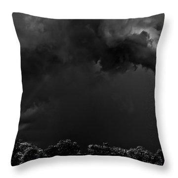 Storm Clouds Throw Pillow by Mark Alder