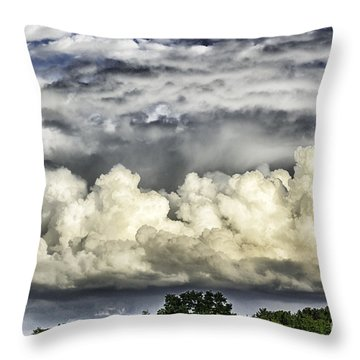 Storm Clouds Over Mountain Throw Pillow by Thomas R Fletcher