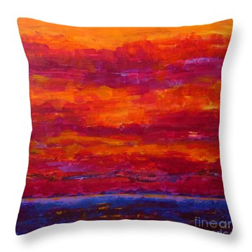 Storm Clouds Sunset Throw Pillow by Gail Kent