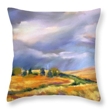 Throw Pillow featuring the painting Storm Colors by Rae Andrews