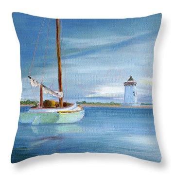 Calm Glow Throw Pillow by Trina Teele