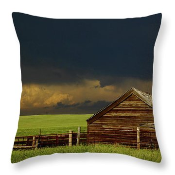 Storm Crossing Prairie 2 Throw Pillow by Robert Frederick