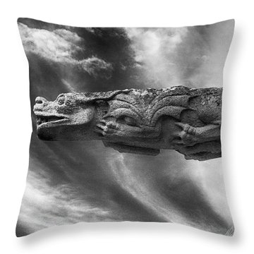 Storm Dragon Throw Pillow