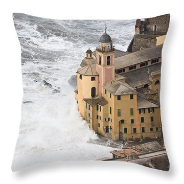 Storm In Camogli Throw Pillow