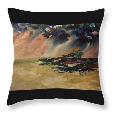 Storm In The Heartland Throw Pillow
