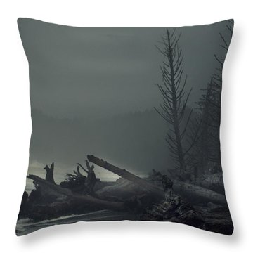 Storm Is Not Over. Throw Pillow by Yulia Kazansky