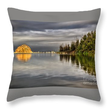 Storm Light Throw Pillow by Alice Cahill