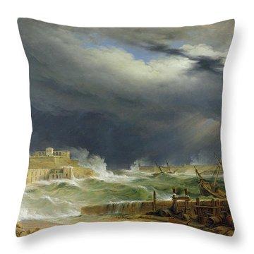 Storm Malta Throw Pillow by John or Giovanni Schranz