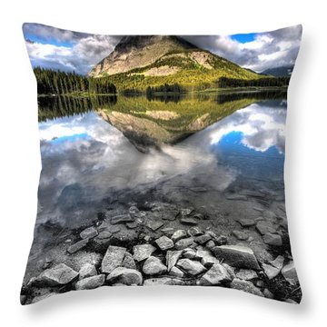 Storm Mountain II Throw Pillow