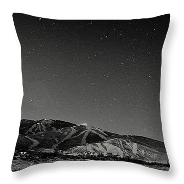 Storm Mountain Moon Throw Pillow by Matt Helm