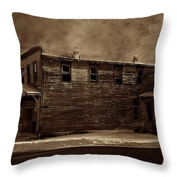 Storm Of 1888 Throw Pillow by David Dehner