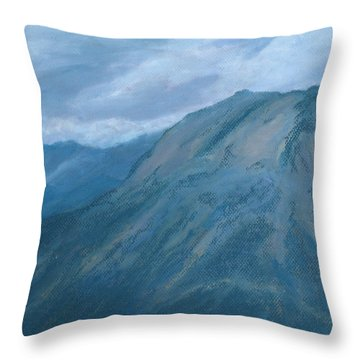 Storm Off Trail Ridge Throw Pillow by Jenny Armitage