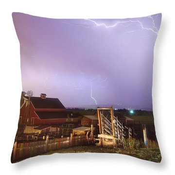 Storm On The Farm Throw Pillow by James BO  Insogna