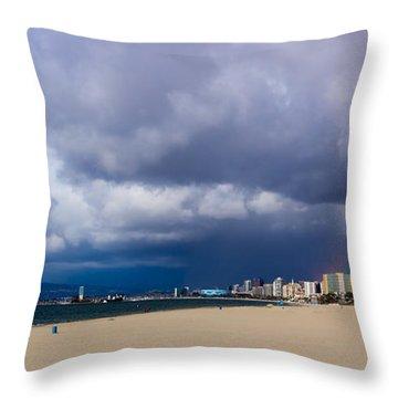 Storm On The Horizon Throw Pillow by Heidi Smith