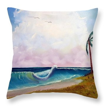 Storm On The Horizon Throw Pillow by Joyce Krenson