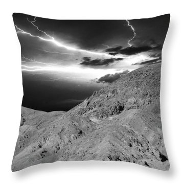 Storm On The Mountain Throw Pillow by Athala Carole Bruckner