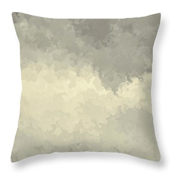 Storm Over A Cornfield Throw Pillow