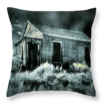 Storm Over Bodie Bordello Throw Pillow