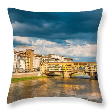 Storm Over Florence Throw Pillow
