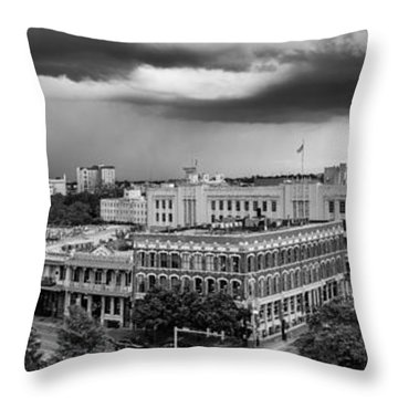 Storm Over San Antonio Texas Skyline Throw Pillow
