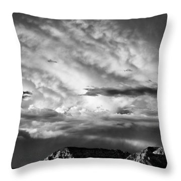 Storm Over Sedona Throw Pillow by Dave Bowman
