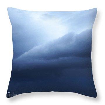 Storm Over Siesta Key - Beach Art By Sharon Cummings Throw Pillow by Sharon Cummings