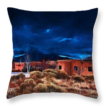 Storm Over Taos Lx - Homage Okeeffe Throw Pillow