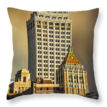 Storm Over Tulsa Throw Pillow by Tamyra Ayles