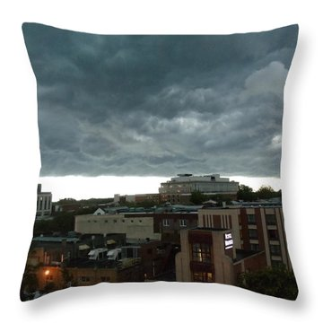 Throw Pillow featuring the photograph Storm Over West Chester by Ed Sweeney