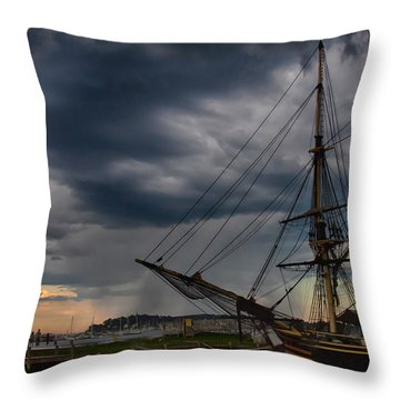 Throw Pillow featuring the photograph Storm Passing Salem by Jeff Folger