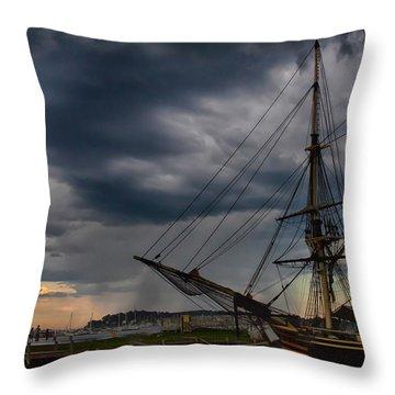 Storm Passing Salem Throw Pillow