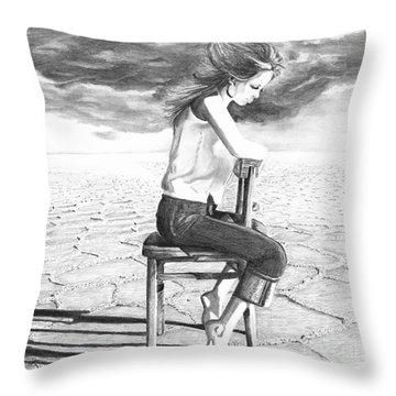 Storm Preparation Throw Pillow by Denise Deiloh