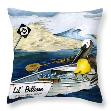 Storm Rashins Throw Pillow by Karen Rhodes