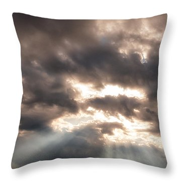 Storm Rays Throw Pillow