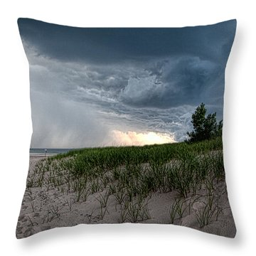 Storm Rolling In Throw Pillow by John Crothers